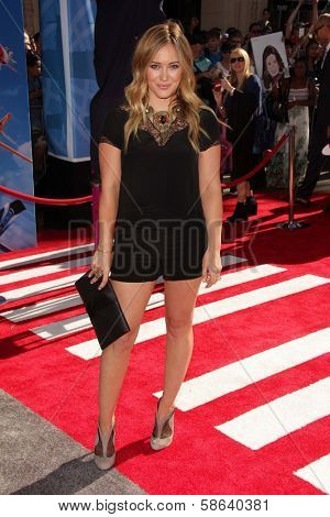 Hilary Duff at the World Premiere Of Disney's Planes, El Capitan, Hollywood, CA 08-05-13