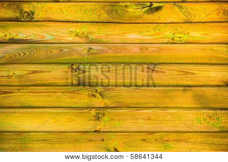 Wall Wooden Planks Covered Paint Primer