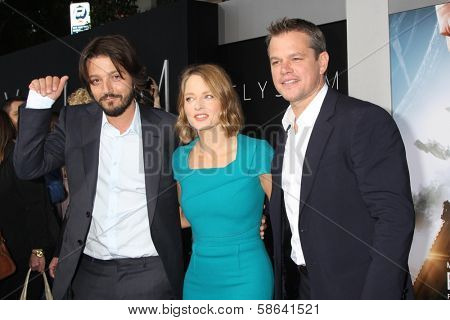 Diego Luna, Jodie Foster and Matt Damon at the