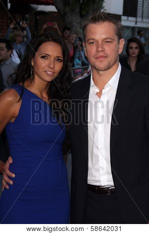 Luciana Barroso and Matt Damon at the