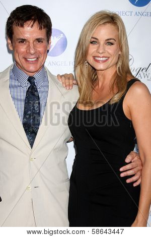 Christian LeBlanc and Jessica Collins at the Project Angel Food Angel Awards, Project Angel Food, Los Angeles, CA 08-10-13
