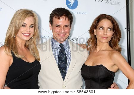 Jessica Collins, Christian LeBlanc and Lisa LoCicero at the Project Angel Food Angel Awards, Project Angel Food, Los Angeles, CA 08-10-13