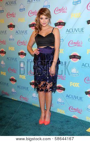 Ashley Benson at the 2013 Teen Choice Awards Press Room, Gibson Amphitheatre, Universal City, CA 08-11-13