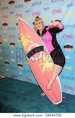 Rebel Wilson at the 2013 Teen Choice Awards Press Room, Gibson Amphitheatre, Universal City, CA 08-11-13
