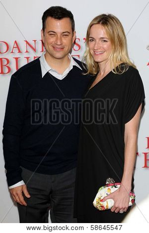 Jimmy Kimmel and wife Molly at