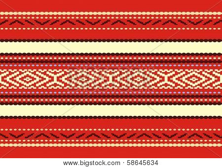 Bulgarian seamless decorative national design pattern