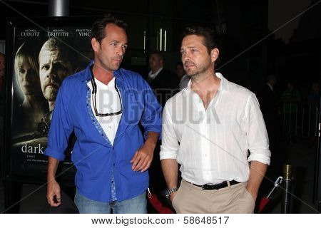 Luke Perry, Jason Priestley at the