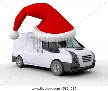 Weihnachten-Lieferwagen