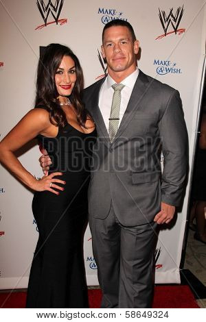 Nikki Bella and John Cena at Superstars for Hope honoring Make-A-Wish, Beverly Hills Hotel, Beverly Hills, CA 08-15-13