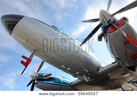 Retro Propeller Airplane