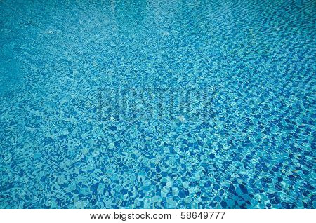 Close-up Texture Background Of Swimming Pool