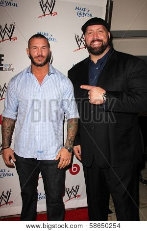 Randy Orton and Big Show at Superstars for Hope honoring Make-A-Wish, Beverly Hills Hotel, Beverly Hills, CA 08-15-13