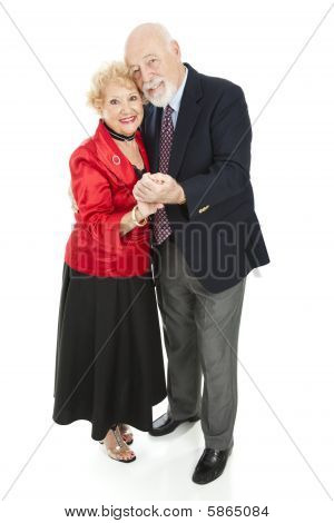 Romantic Seniors Dancing