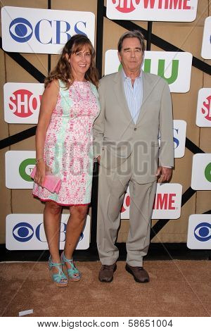 Wendy Bridges and Beau Bridges at the CBS, Showtime, CW 2013 TCA Summer Stars Party, Beverly Hilton Hotel, Beverly Hills, CA 07-29-13