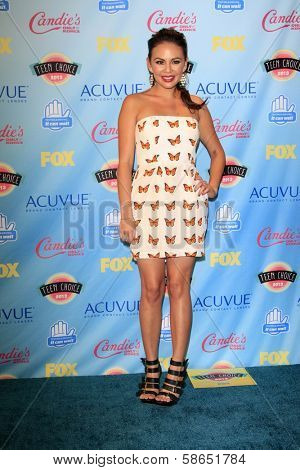 Janel Parrish at the 2013 Teen Choice Awards Press Room, Gibson Amphitheatre, Universal City, CA 08-11-13