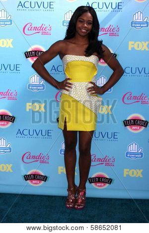Gabby Doughlas at the 2013 Teen Choice Awards Arrivals, Gibson Amphitheatre, Universal City, CA 08-11-13
