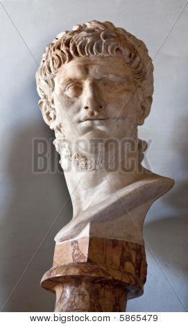 Ancient Statue Emperor Nero Capitoline Museum Rome Italy