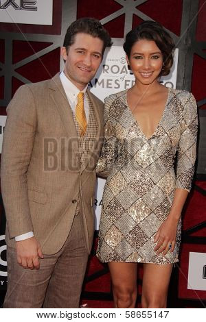 Matthew Morrison and Renee Puente at the Comedy Central Roast Of James Franco, Culver Studios, Culver City, CA 08-25-13