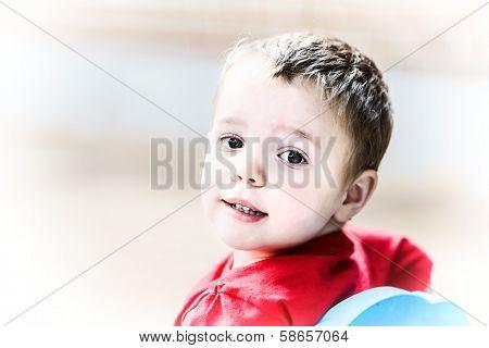 Little Boy Looking Back