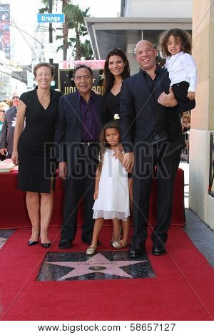 Vin Diesel and family at the Vin Diesel Star on the Hollywood Walk of Fame Ceremony, Hollywood, CA 08-26-13
