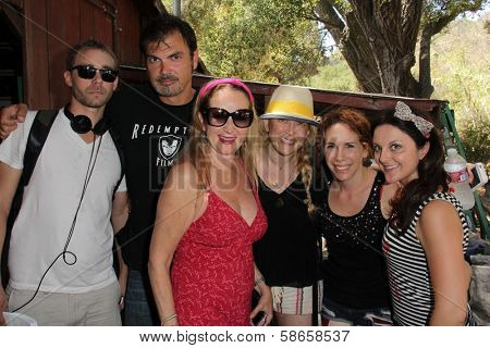 Devon Biehn, Larry Wade Carrell, Jenise Blanc, Jennifer Blanc-Biehn, Hallie Jordan, Nichola Fynn on the set of