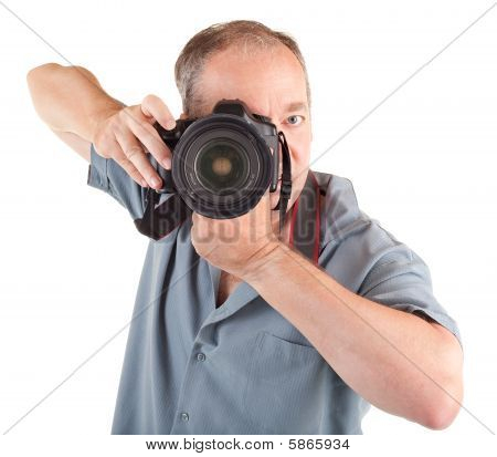 Male Photographer Shooting You