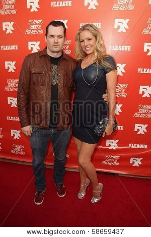 Jim Jefferies, Kate Luyben at the FXX Network Launch Party and