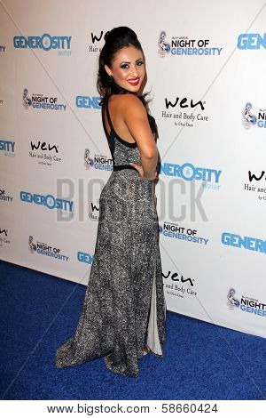Francia Raisa at the 5th Annual Night of Generosity, Beverly Hills Hotel, Beverly Hills, CA 09-06-13