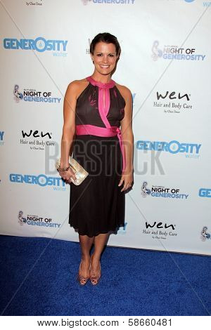 Melissa Claire Egan at the 5th Annual Night of Generosity, Beverly Hills Hotel, Beverly Hills, CA 09-06-13