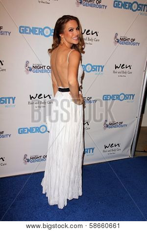Chrishell Stause at the 5th Annual Night of Generosity, Beverly Hills Hotel, Beverly Hills, CA 09-06-13