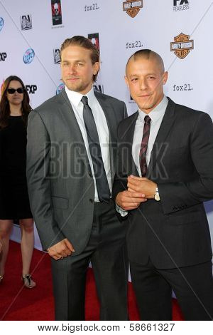 Charlie Hunnam, Theo Rossi at the