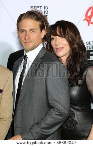Charlie Hunnam and Katey Sagal at the