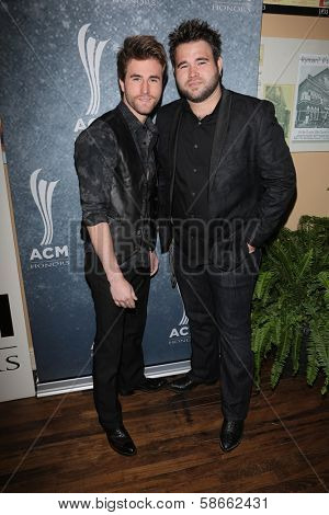 Zach Swon and Colton Swon at the 7th Annual ACM Honors, Ryman Auditorium, Nashville, TN 09-10-13