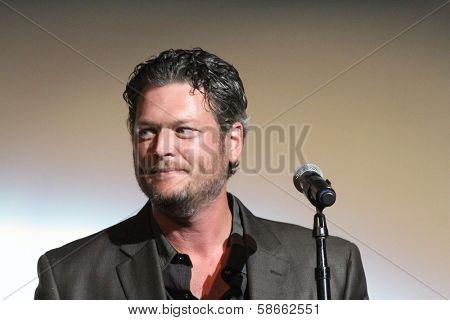 Blake Shelton at the 7th Annual ACM Honors, Ryman Auditorium, Nashville, TN 09-10-13