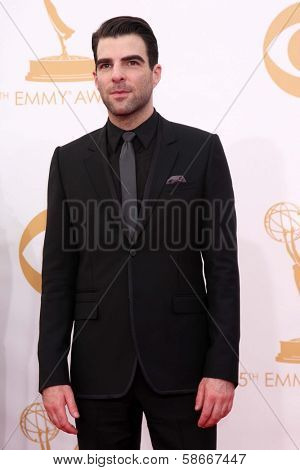 Zachary Quinto at the 65th Annual Primetime Emmy Awards Arrivals, Nokia Theater, Los Angeles, CA 09-22-13