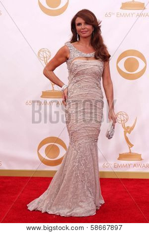 Roma Downey at the 65th Annual Primetime Emmy Awards Arrivals, Nokia Theater, Los Angeles, CA 09-22-13