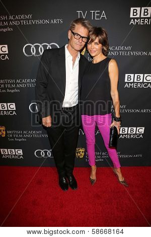Harry Hamlin and Lisa Rinna at the BAFTA Los Angeles TV Tea 2013, SLS Hotel, Beverly Hills, CA 09-21-13