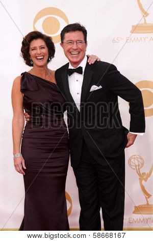 Stephen Colbert at the 65th Annual Primetime Emmy Awards Arrivals, Nokia Theater, Los Angeles, CA 09-22-13