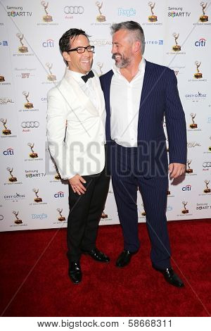 Dan Bucatinsky and Matt LeBlanc at the 65th Annual Emmy Awards Performers Nominee Reception, Pacific Design Center, West Hollywood, CA 09-20-13