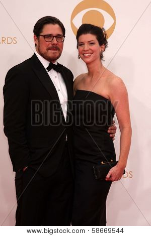 Rich Sommer and Virginia Donohoe at the 65th Annual Primetime Emmy Awards Arrivals, Nokia Theater, Los Angeles, CA 09-22-13