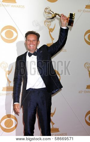 Mark Burnett at the 65th Annual Primetime Emmy Awards Press Room, Nokia Theater, Los Angeles, CA 09-22-13