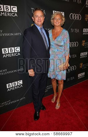Hugh Bonneville and Lulu Williams at the BAFTA Los Angeles TV Tea 2013, SLS Hotel, Beverly Hills, CA 09-21-13