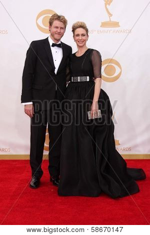 Vera Farmiga and husband Renn Hawkey at the 65th Annual Primetime Emmy Awards Arrivals, Nokia Theater, Los Angeles, CA 09-22-13