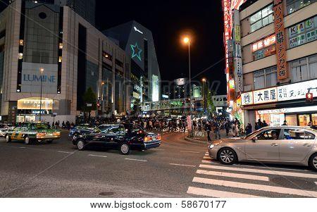 Tokyo - November 23: Street Life In Shinjuku November 23 2013.