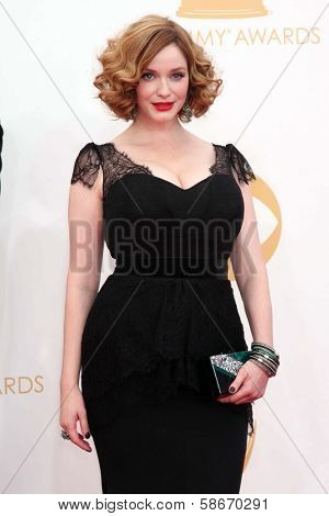 Christina Hendricks at the 65th Annual Primetime Emmy Awards Arrivals, Nokia Theater, Los Angeles, CA 09-22-13
