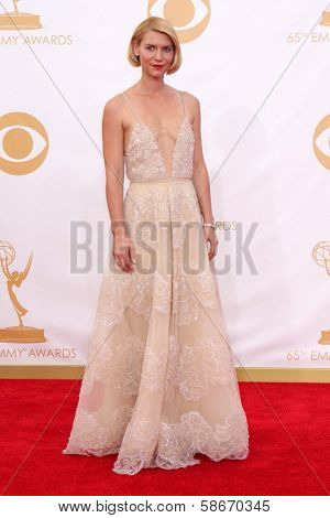 Claire Danes at the 65th Annual Primetime Emmy Awards Arrivals, Nokia Theater, Los Angeles, CA 09-22-13
