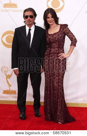 Al Pacino and Lucila Sola at the 65th Annual Primetime Emmy Awards Arrivals, Nokia Theater, Los Angeles, CA 09-22-13