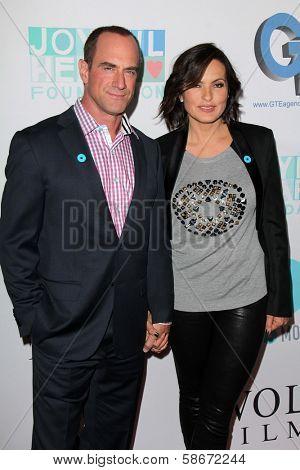 Christopher Meloni and Mariska Hargitay at the Joyful Heart Foundation celebrates the No More PSA Launch, Milk Studios, Los Angeles, CA 09-26-13