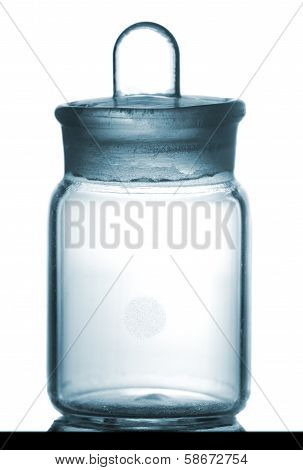 Isolated Chemical Sample Bottle On Table