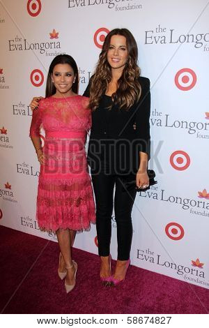Eva Longoria and Kate Beckinsale at the Eva Longoria Foundation Dinner, Beso, Hollywood, CA 09-29-13
